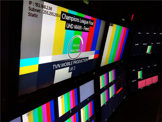 TVN puts MatchBox through its paces during the 2017-2018 UEFA Champions League Final in Kiev